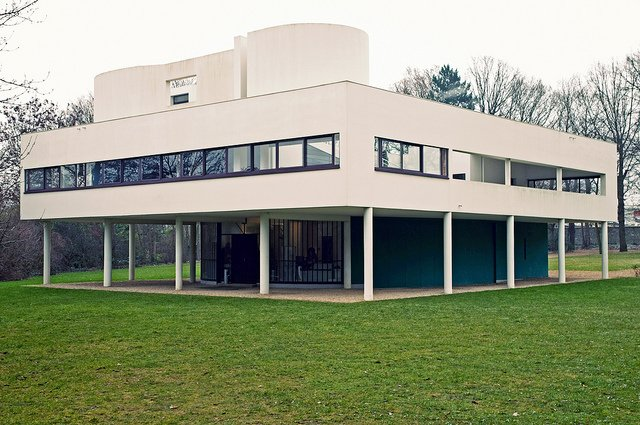 Photo de la Villa Savoye, construite par Le Corbusier