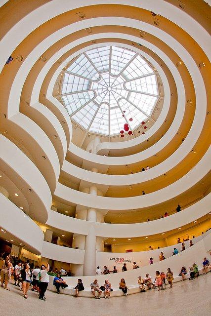 Photo du puit de lumière du musée Solomon R. Guggenheim de New York