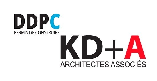 Logo de DDPC et KDA, demande de permis de construire et architectes