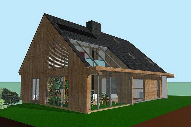 Maquette 3D maison en ossature en bois