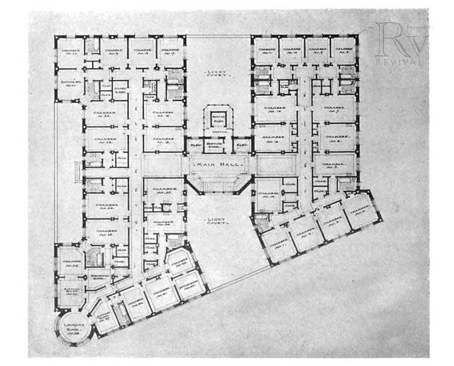Plan de l'hôtel Georgian Terrace à Atlanta.
