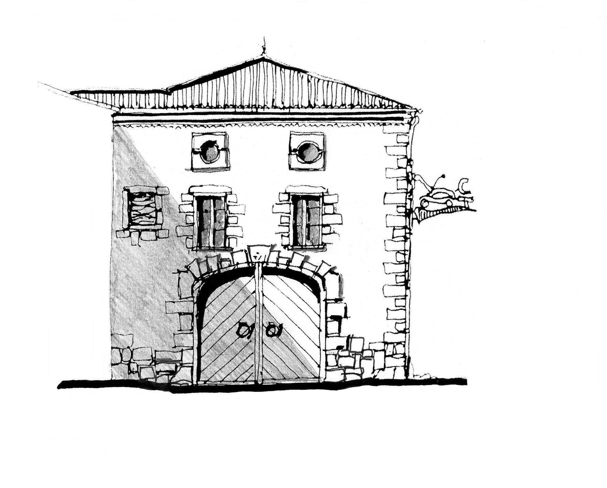 Croquis maison rurale