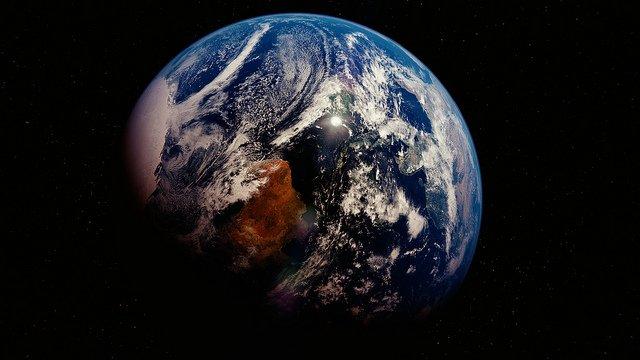 Vue satellite de la planète Terre.