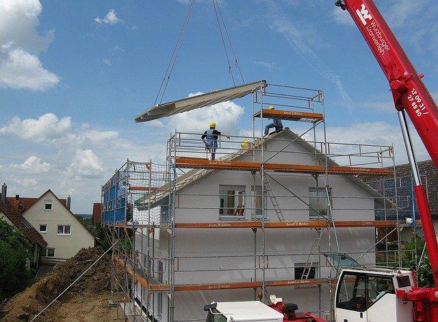 Construction d'une maison.