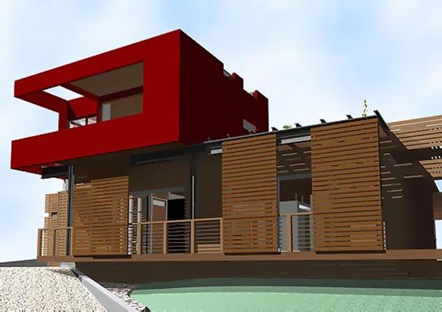 Plan 3D d'une maison.