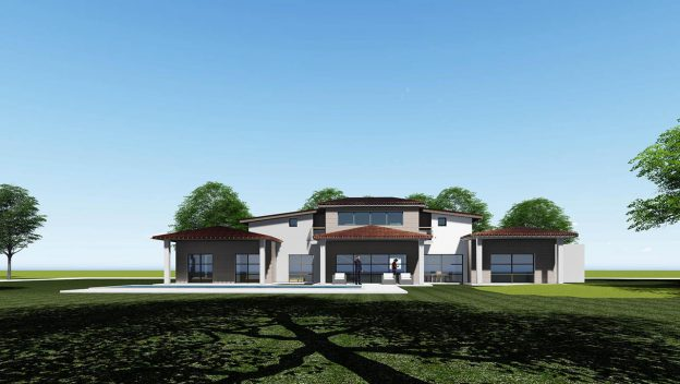 Maison luxe Carcassone - Côté piscine