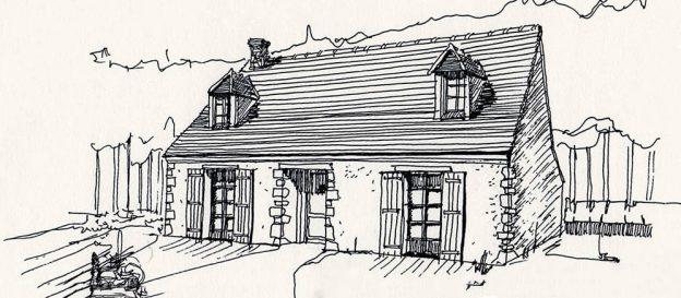 Croquis r novation petite maison de campagne ddpc - Renovation maison de campagne ...
