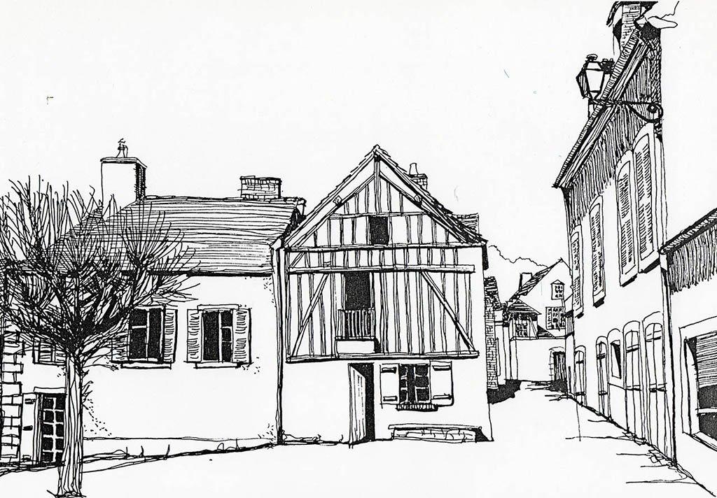 Croquis rénovation habitation vieille ville