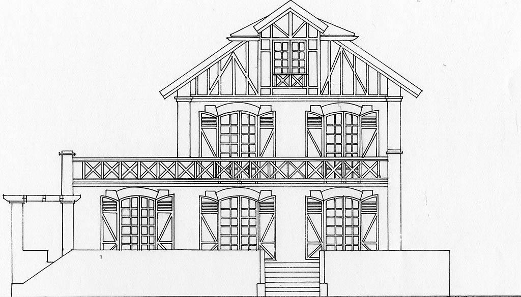 Croquis maison 2 étages