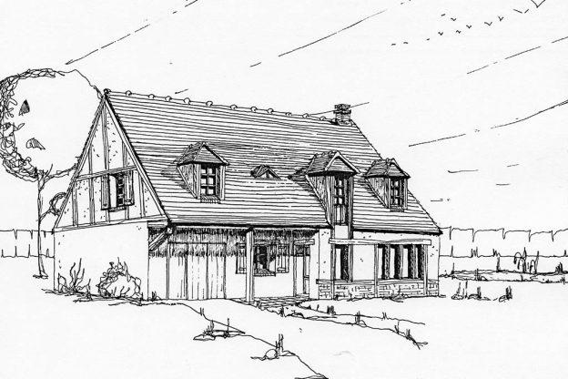Croquis réhabilitation maison rurale