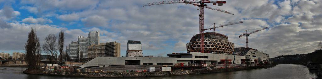 L'Île Seguin, en région parisienne, s'apprête à devenir la Seine musicale.