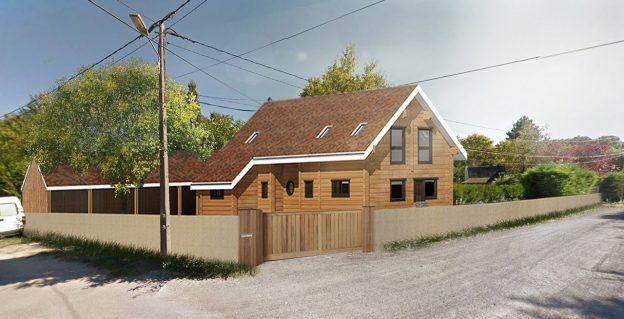 Maison Suedoise dans le 74, réalisée par DDPC. Permis de construire en ligne.