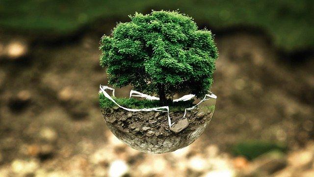 Photomontage sur la protection de l'environnement.