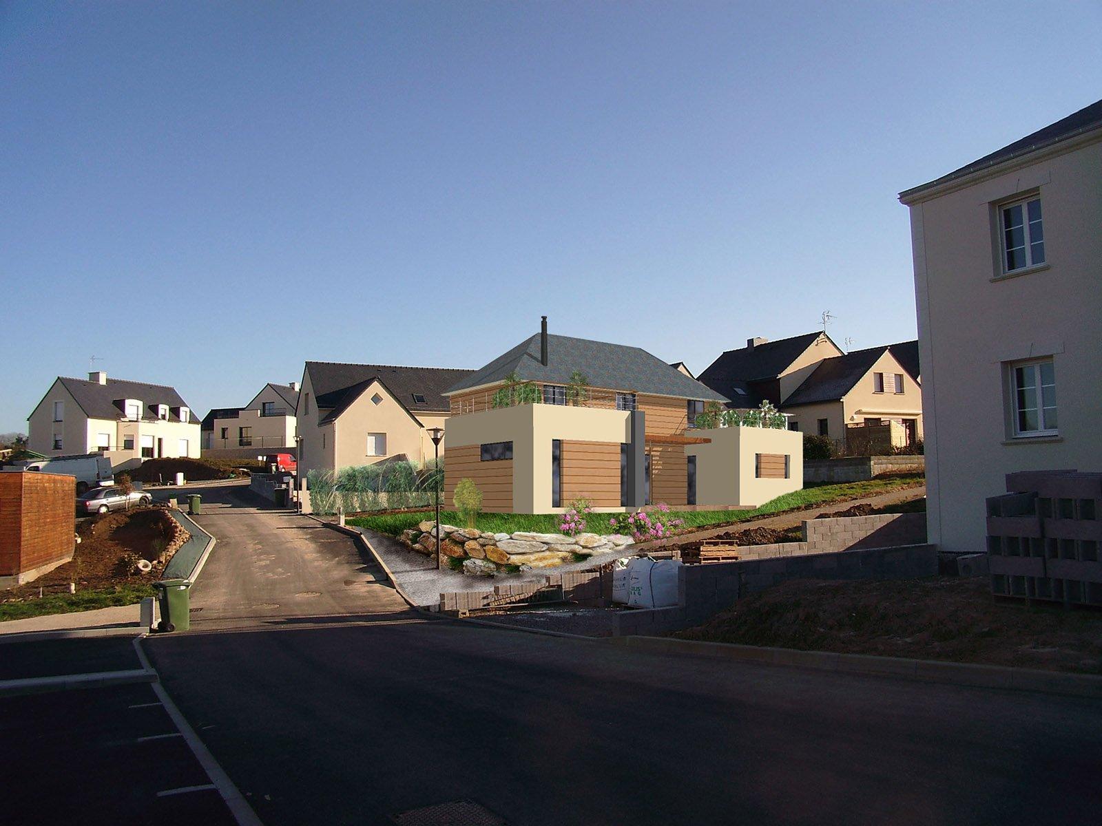 Permis de construire maison BBC à energie passive région parisienne
